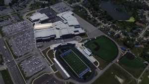 Ariel View of Lake Central High School