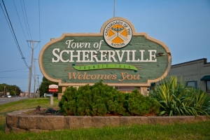 Schererville, Indiana welcome sign
