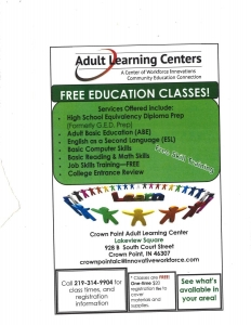 Adult Learning Centers flyer