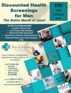 Discounted Health Screenings for Men