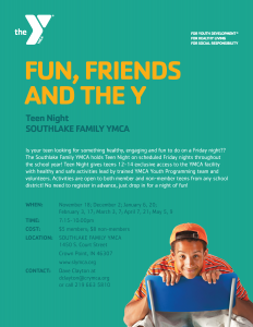 Southlake YMCA flyer