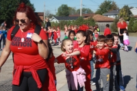 Students dance during the 2017 walk-a-thon.