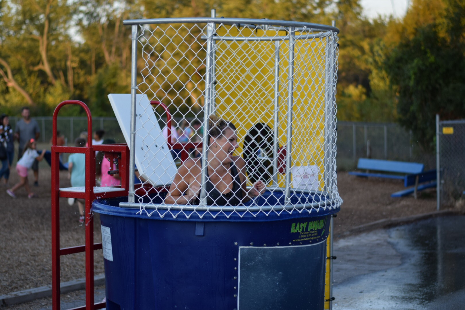 teacher in dunk tank