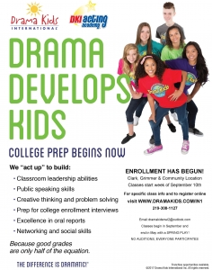 Young Adult Drama Kids Flyer