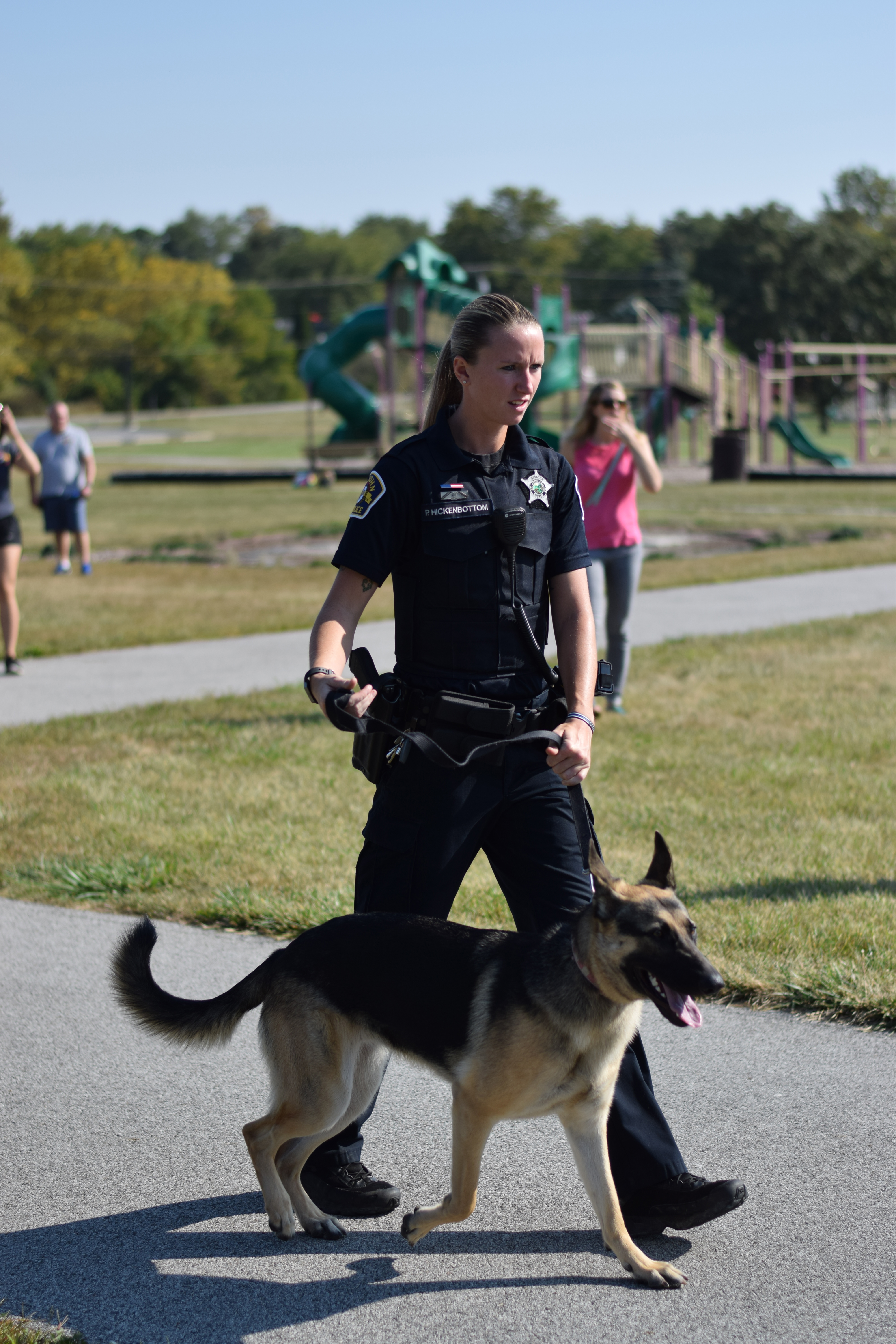 cop with dog