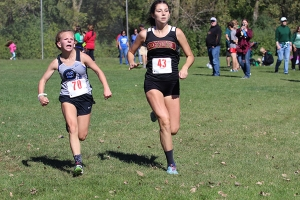 LC athlete finishes strong at the end of a race.