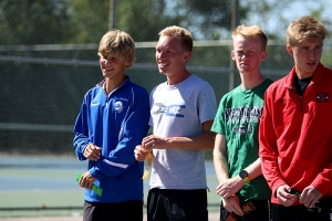 Senior Cross Country runners smile after finished the meet
