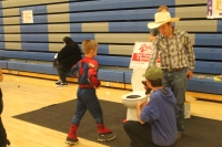 Students help run a game at LC