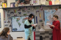 Students continue performing Hamlet in act 2