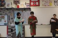 AP students peform a play