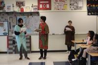 Students peform a play at Lake Central