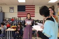 Seniors perform a play