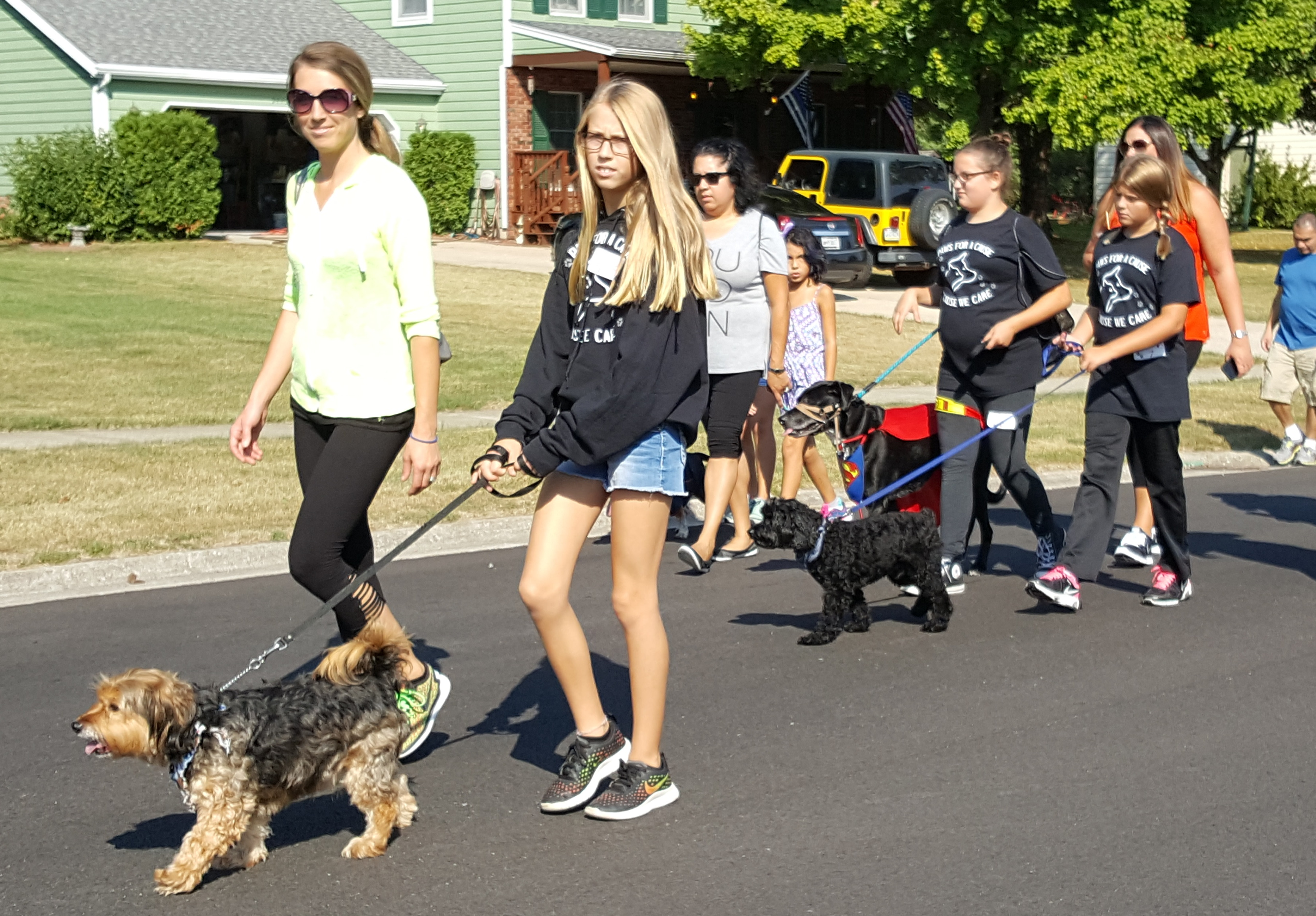 "Clark Middle School ""Paws for a Cause"" members participated in the town of St. John Pet Parade on September 16th."