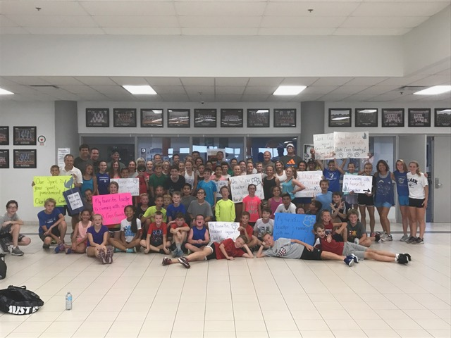 The Clark Boys and Girls Cross Country Teams invited their favorite teachers to run a mile with them after school on Tuesday, Sept. 26th.