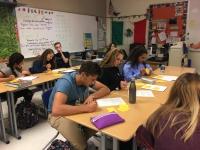 Lake Cenral students work on spanish