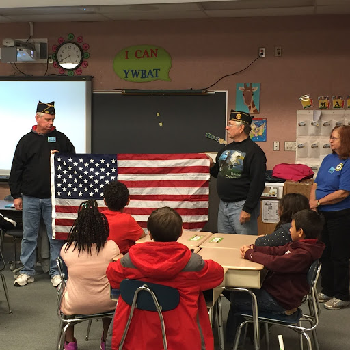 American Legion Post 485 teaches Homan students about Flag Education