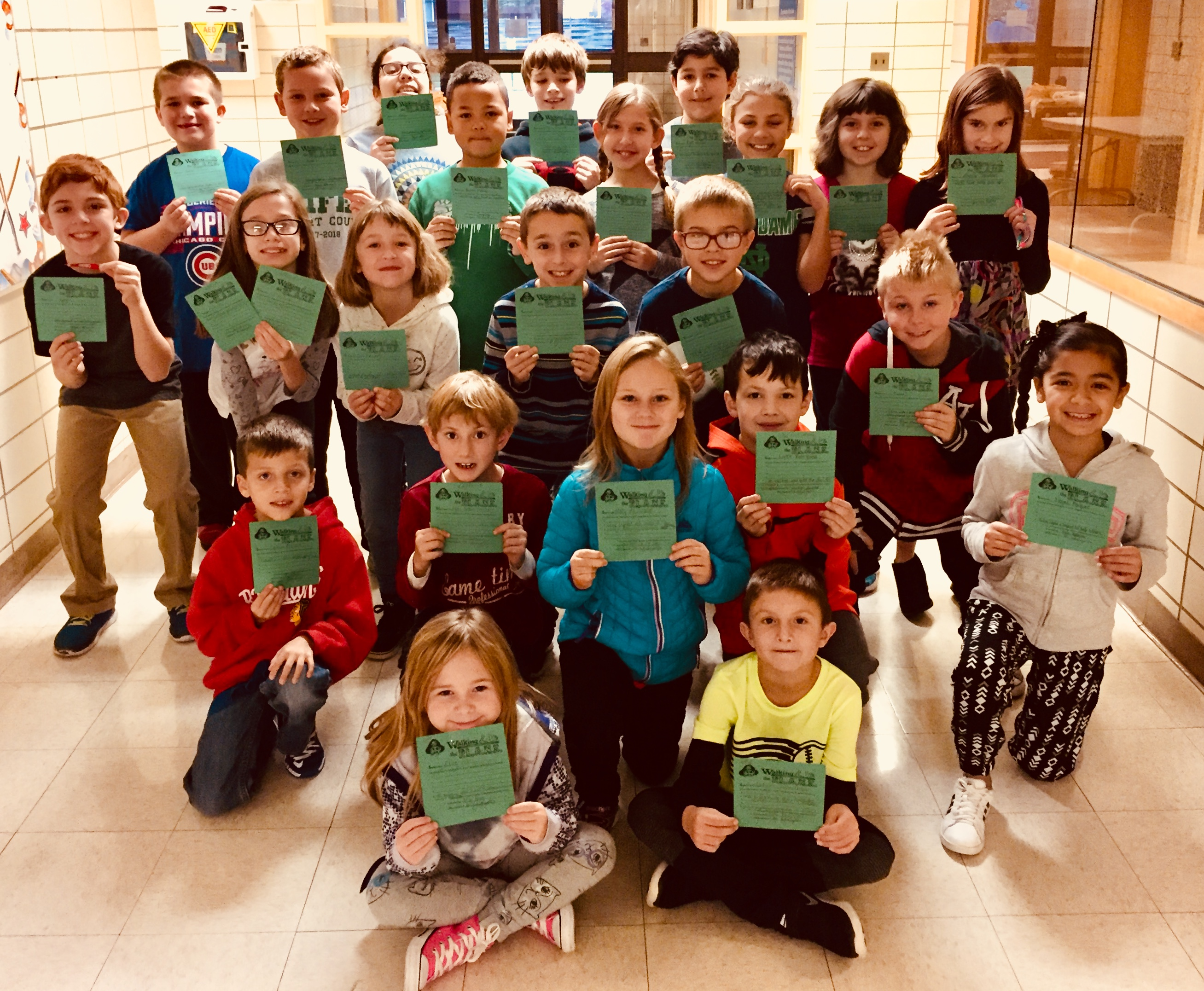 Peifer Pirate students walked the P.L.A.N.K. during September and October for Peifer's positive citizenship incentive program.