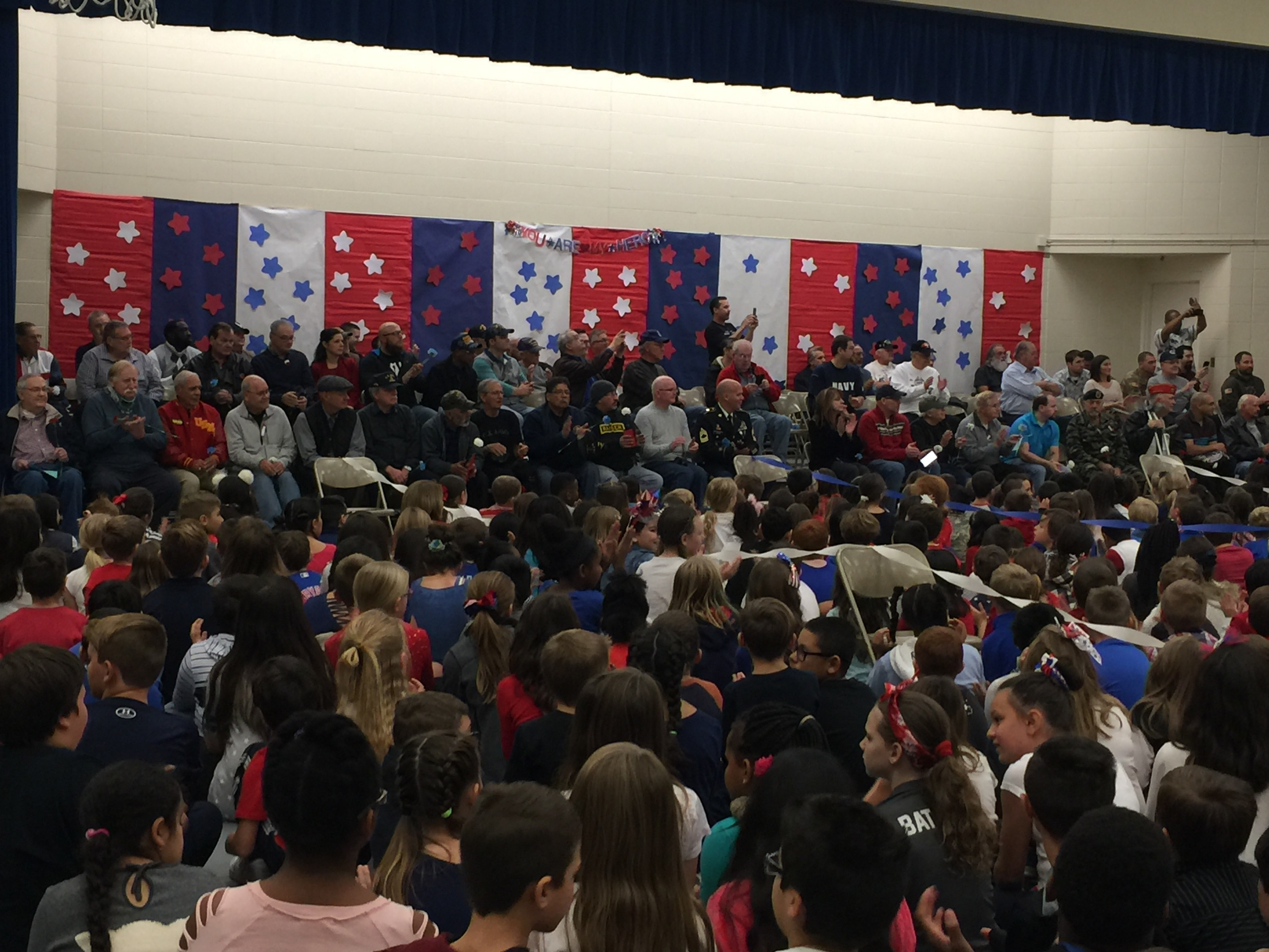 Watson Elementary celebrated Veterans Day on November 8. Approximately 74 veterans attended and were honored.