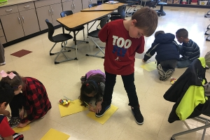 Protsman students learn a new math lesson