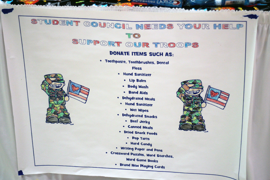 Bibich gives a list of the items that can be donated.