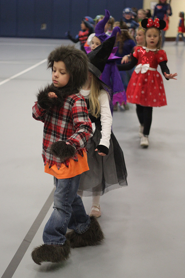 A student dresses as a werewolf costume.
