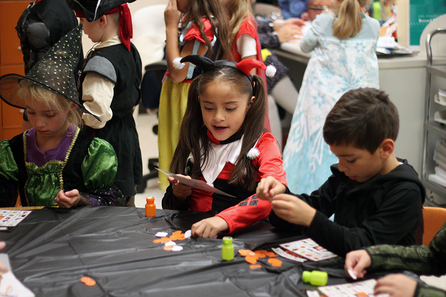 Students wear their costume to their parties.