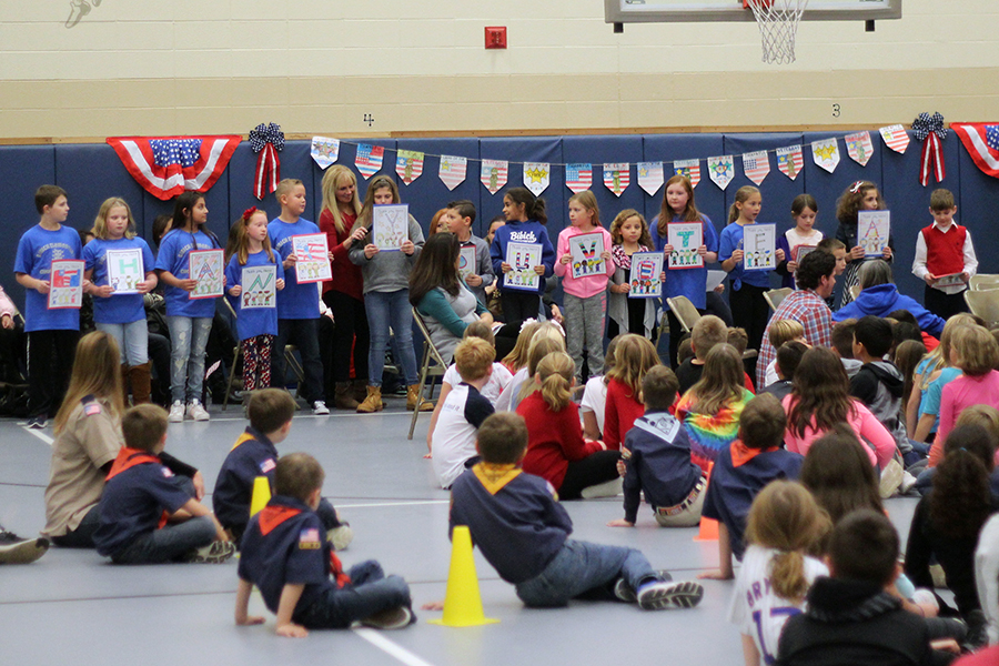Some of the students were allowed to read sayings and poems.