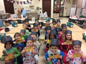 students show their tickets to watch the Polar EXpress