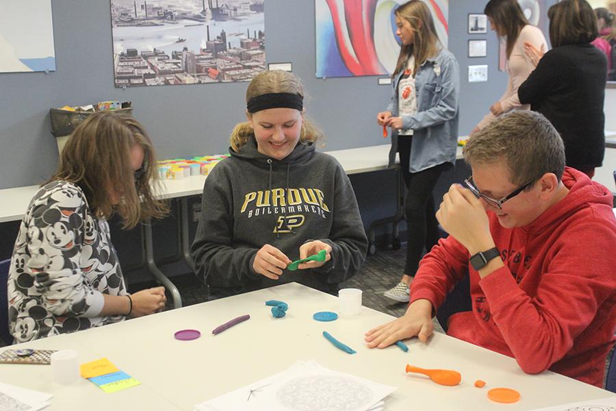 Lake Central students make stress balls