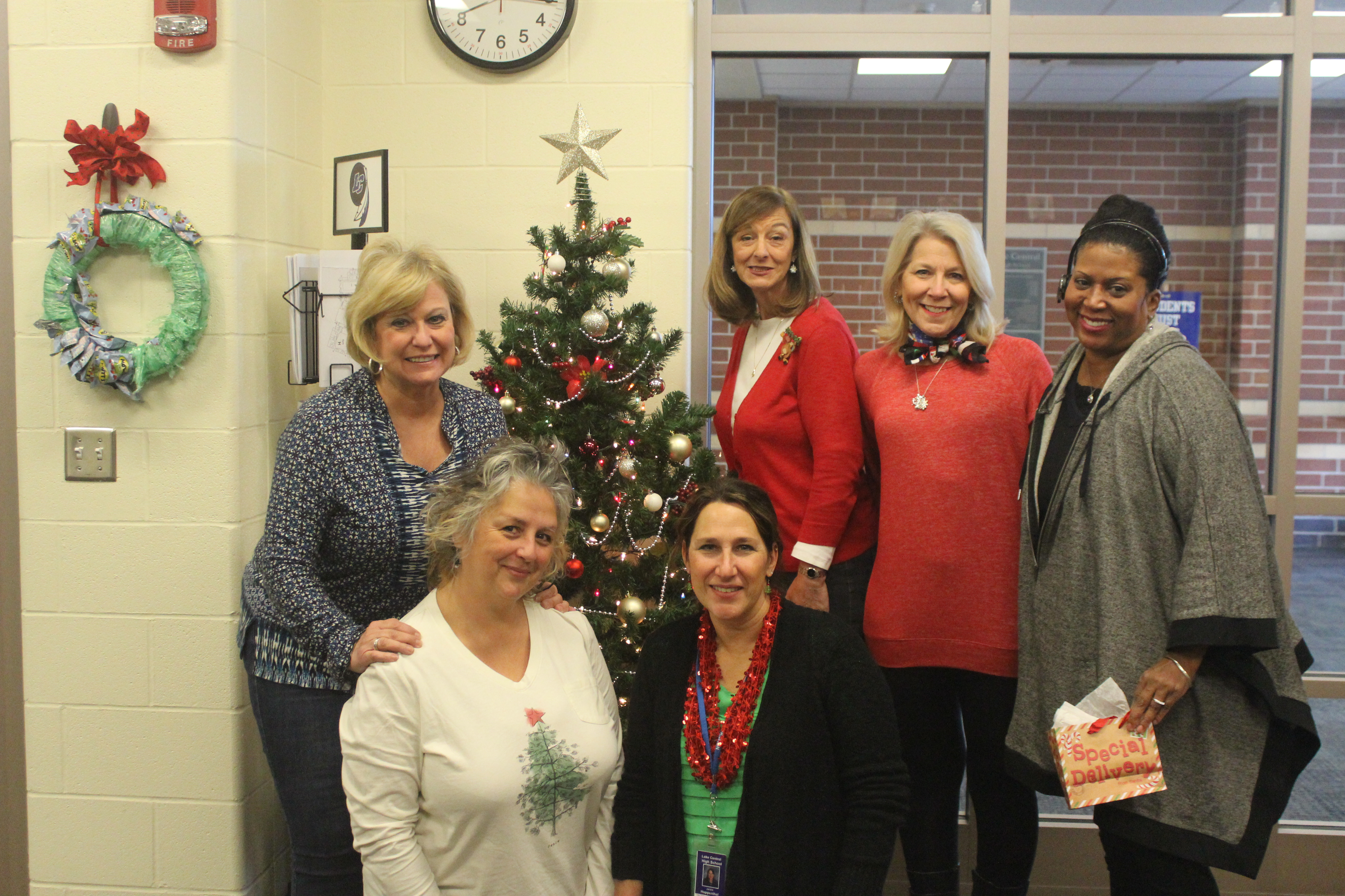 Lake Central office staff smile