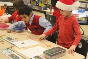 Protsman students make holiday themed projects