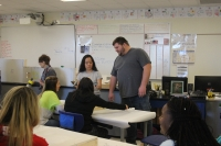 Mr. Buxton donated the walls to the class.