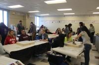 Mrs. Tallent's class works on walls