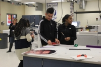 Lake Central students work on a project.