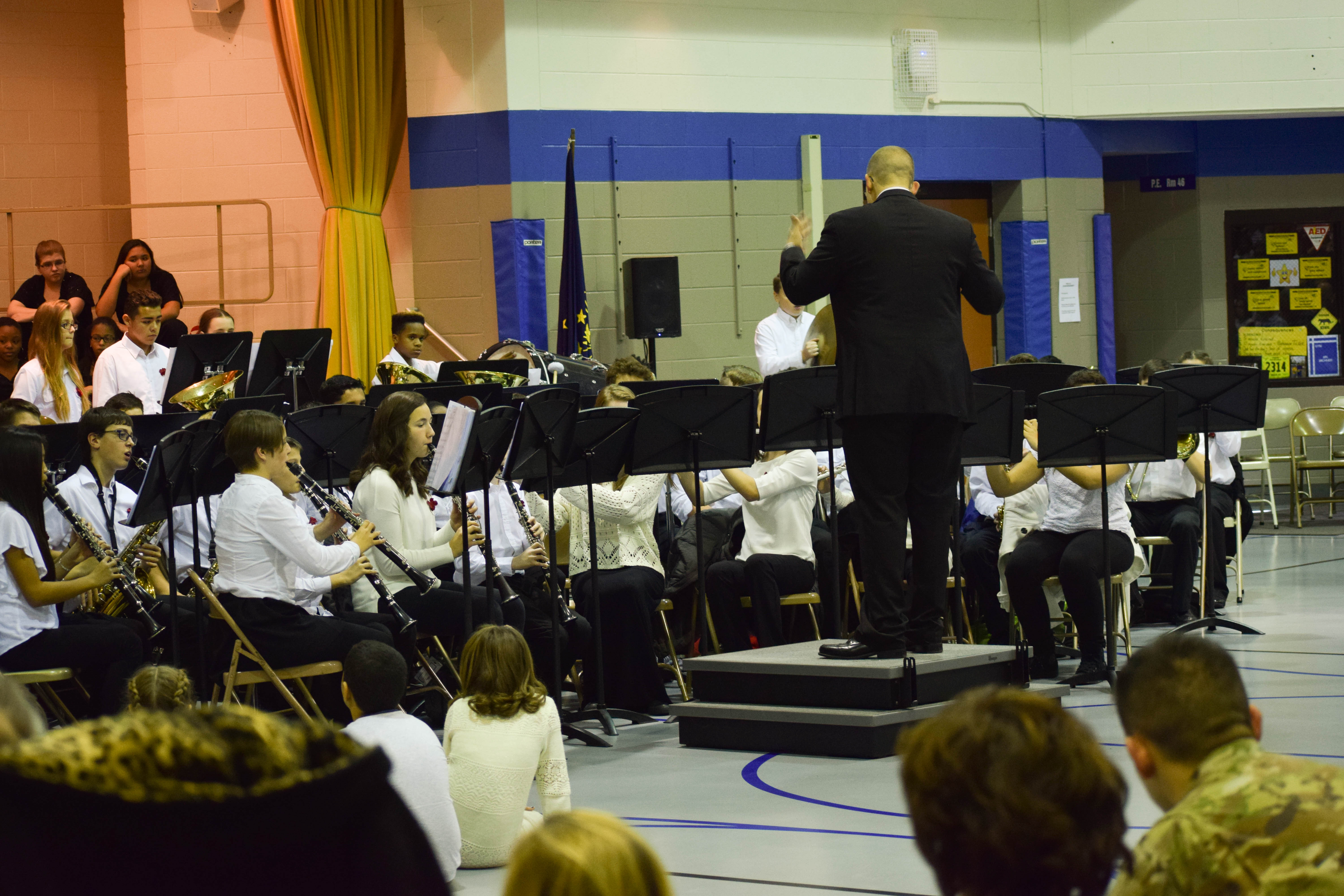 Clark band performing