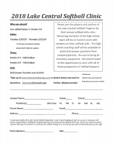 Lake Central Softball Clinic