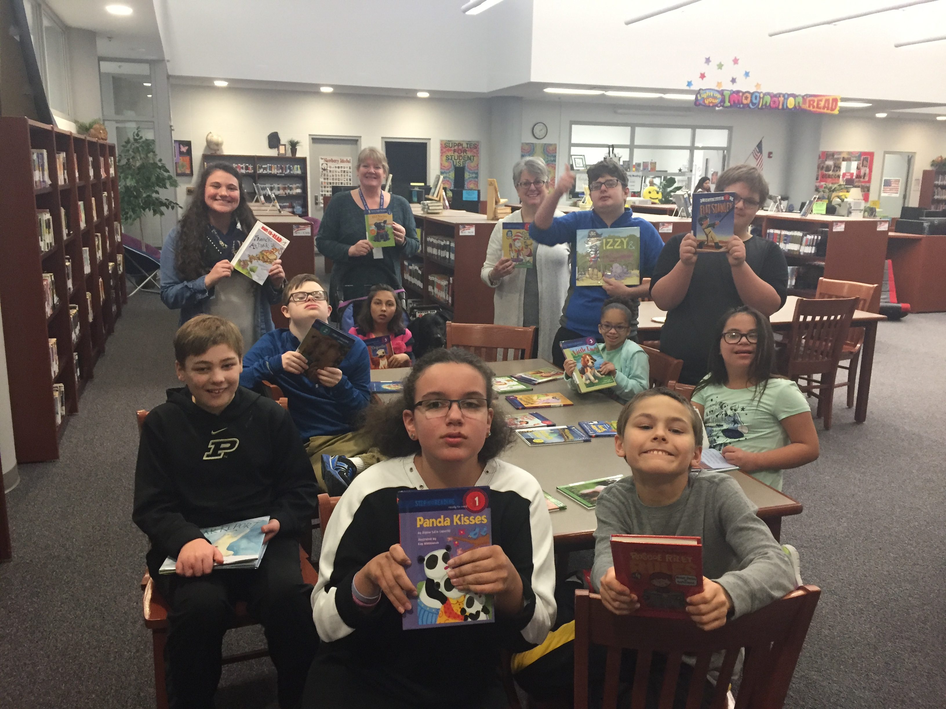 generous grant from the Lake Central Education Foundation enabled Clark to start building a section of the library dedicated to helping readers. The students were very excited about the new books!