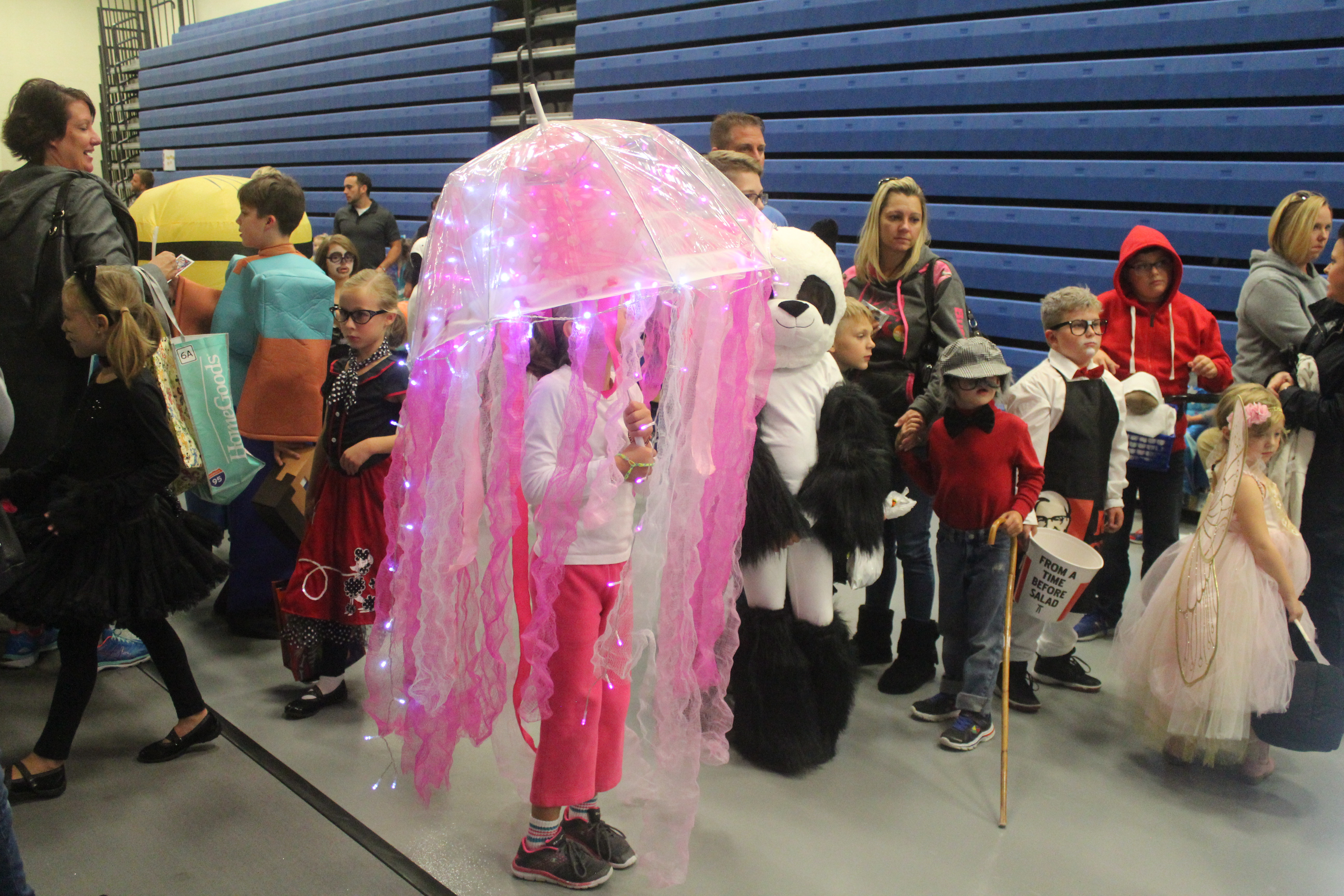 A girl is dressed as a Jelly Fish