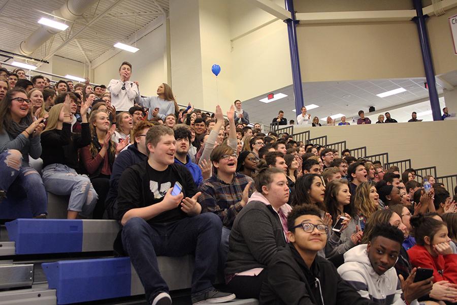 students cheer on westlake