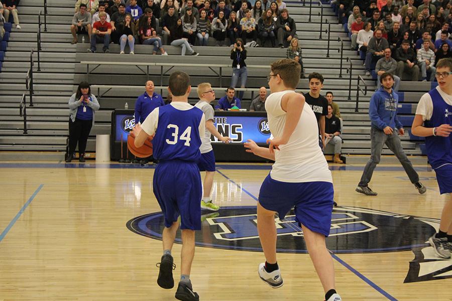 Westlake boys play basketball