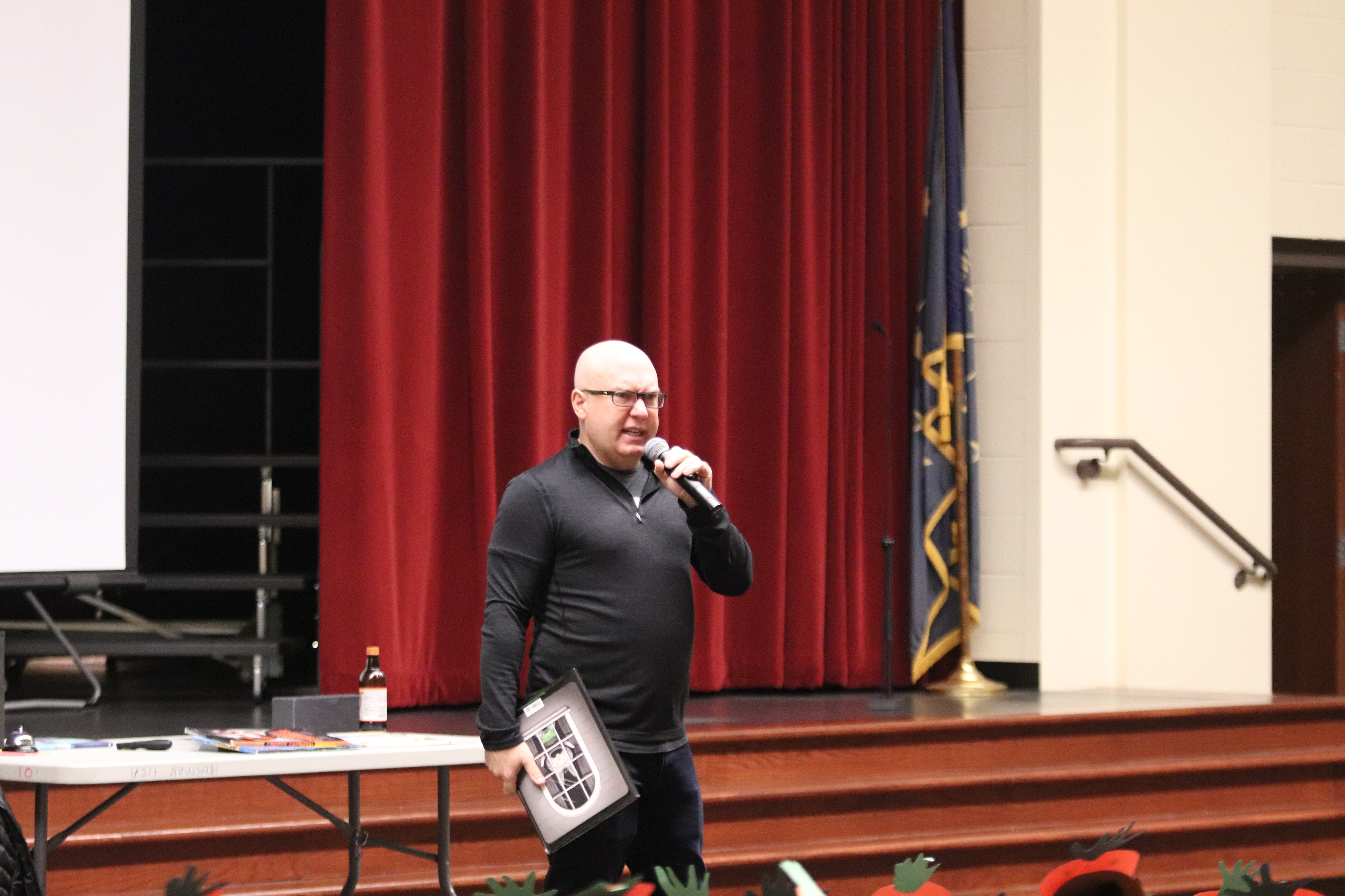 Author Aaron Reynolds visited Protsman