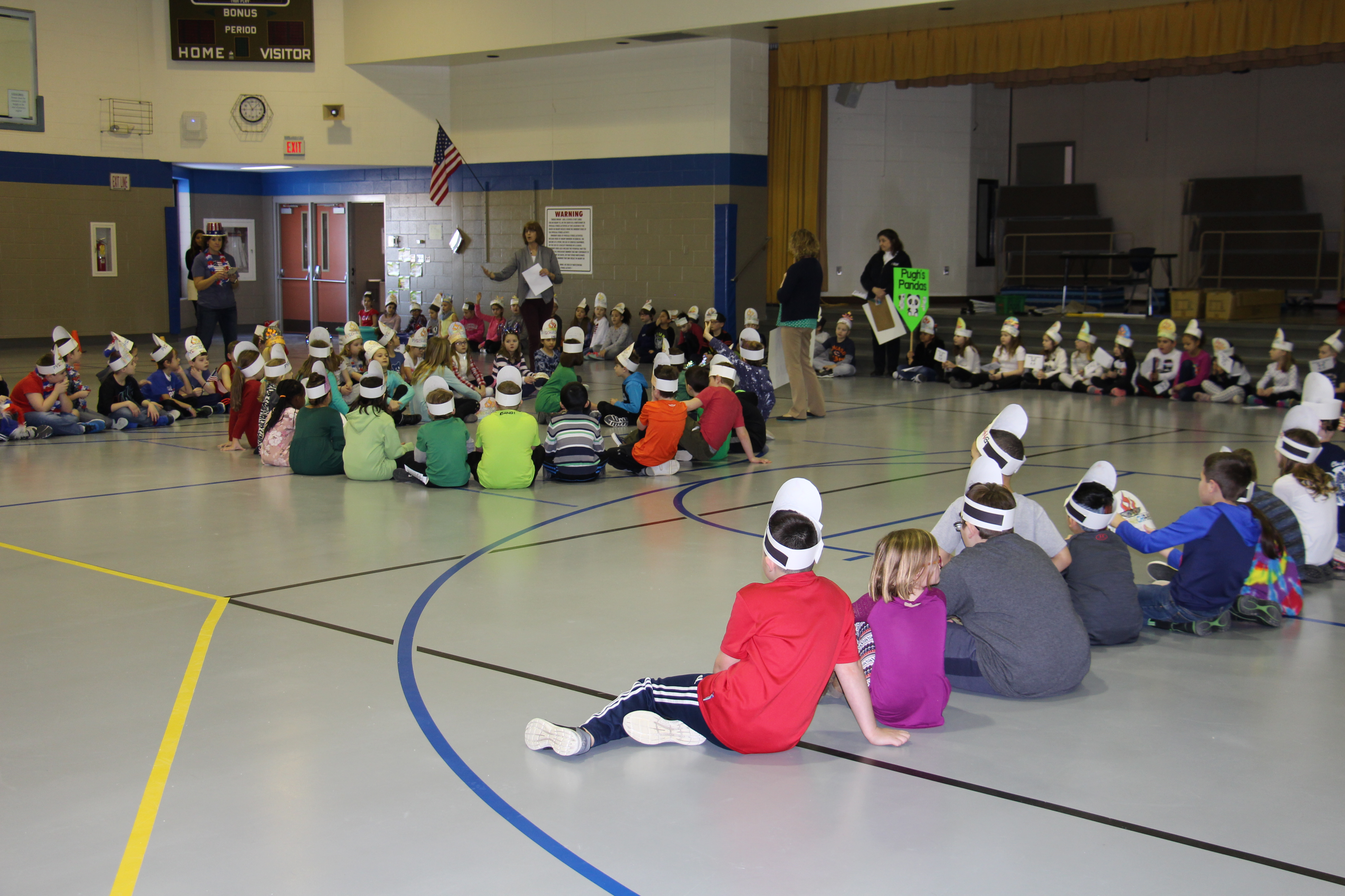 Opening ceremony in Kolling's gym for the Kolling Winter Olympics