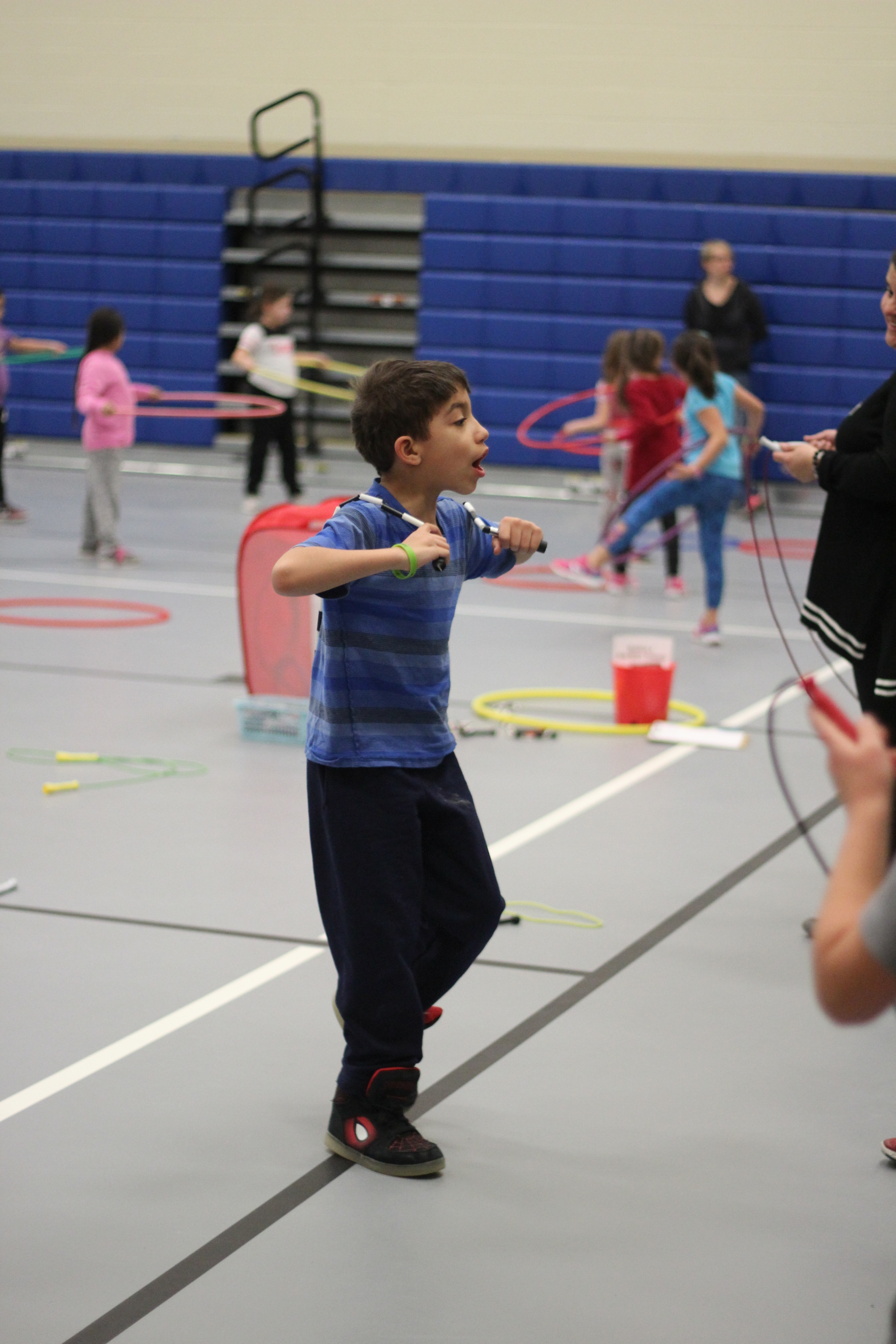 A student jump roping