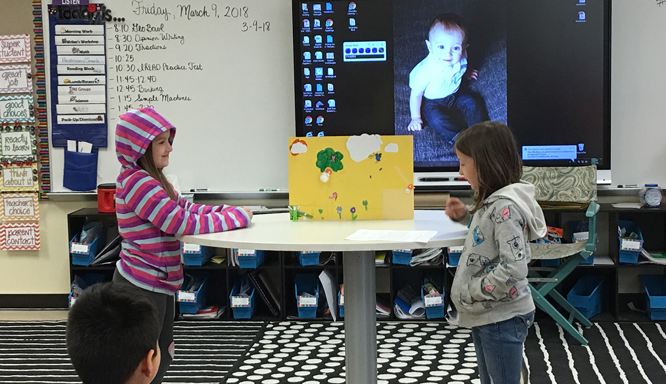 students present their projects