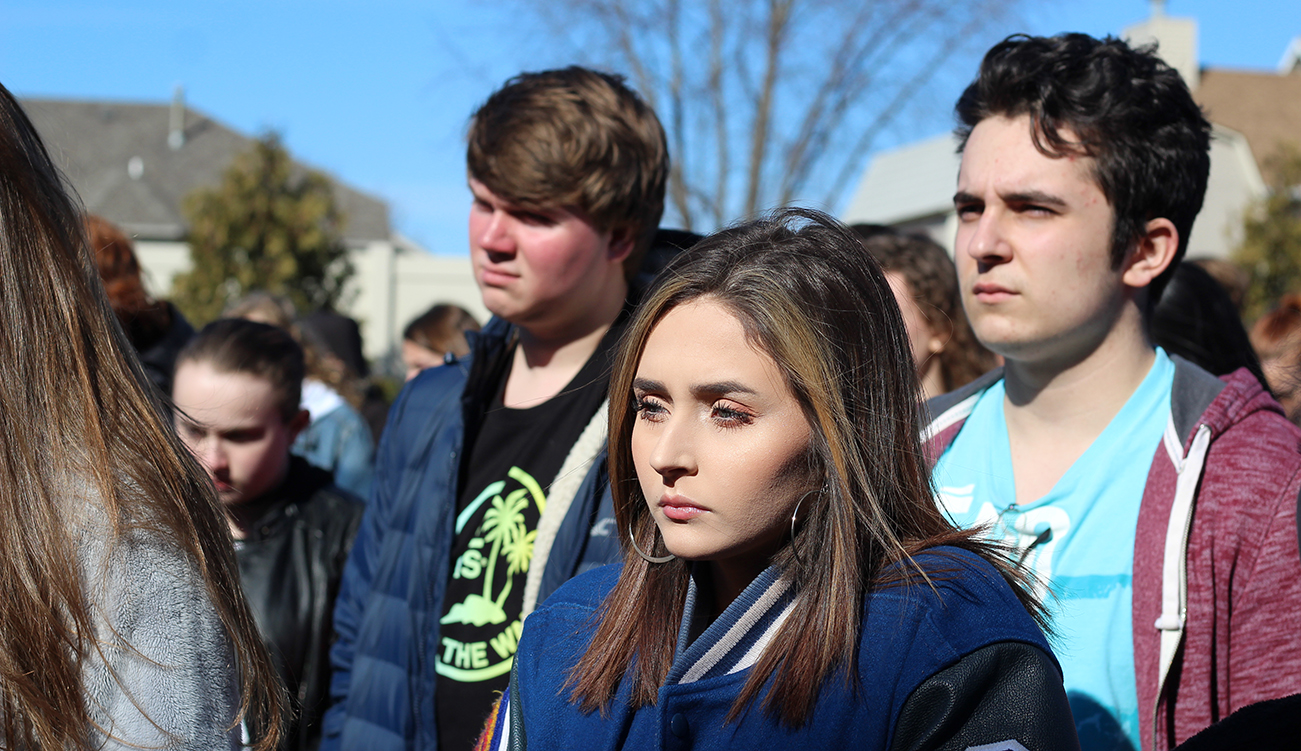 Lake Central holds a school walk out.