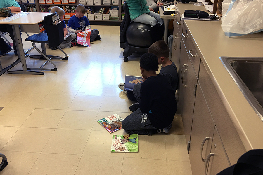 students read to one another