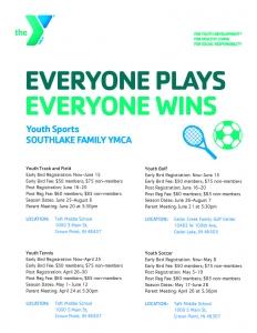 Southlake YMCA Summer Sports Flyer
