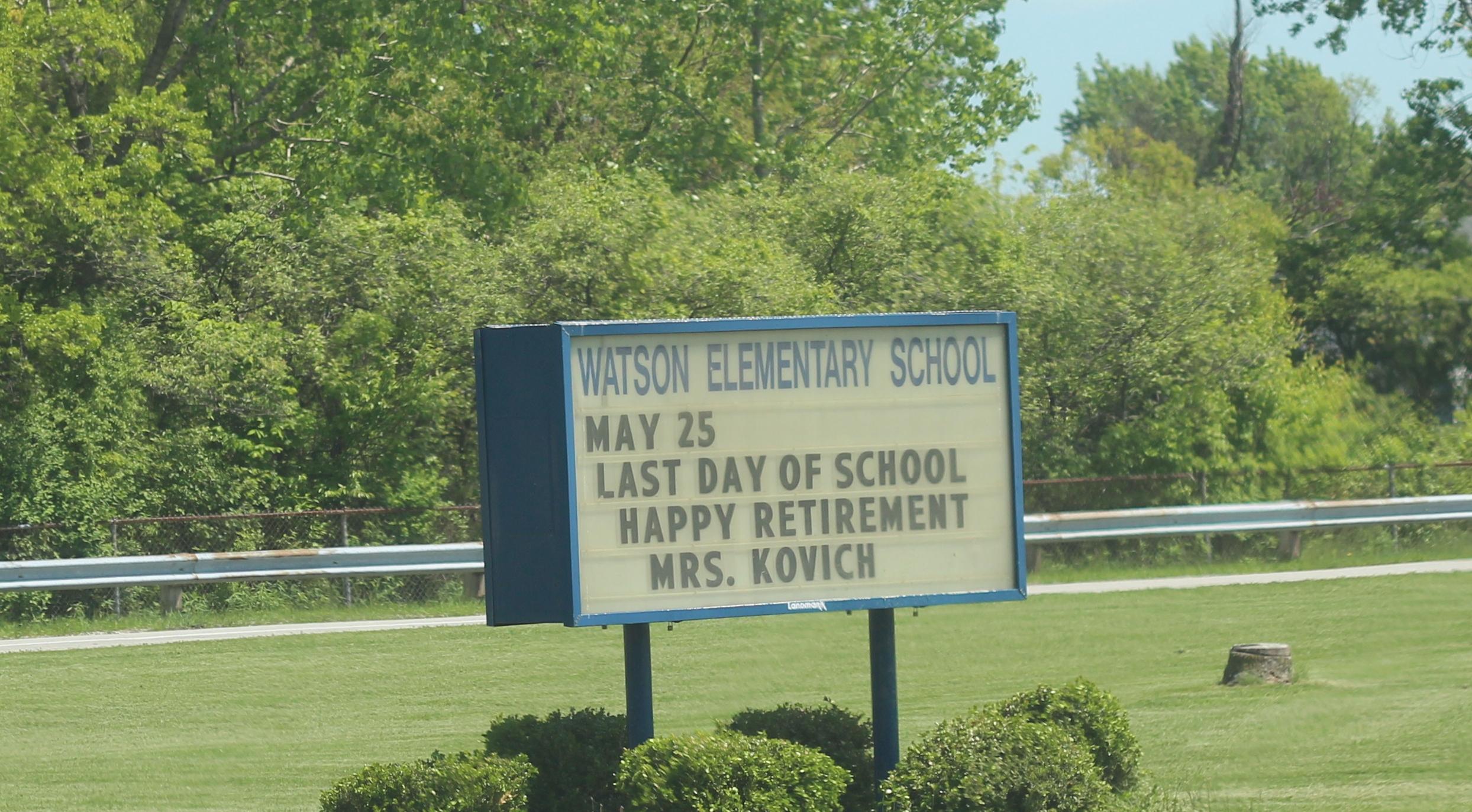 A sign outside Watson
