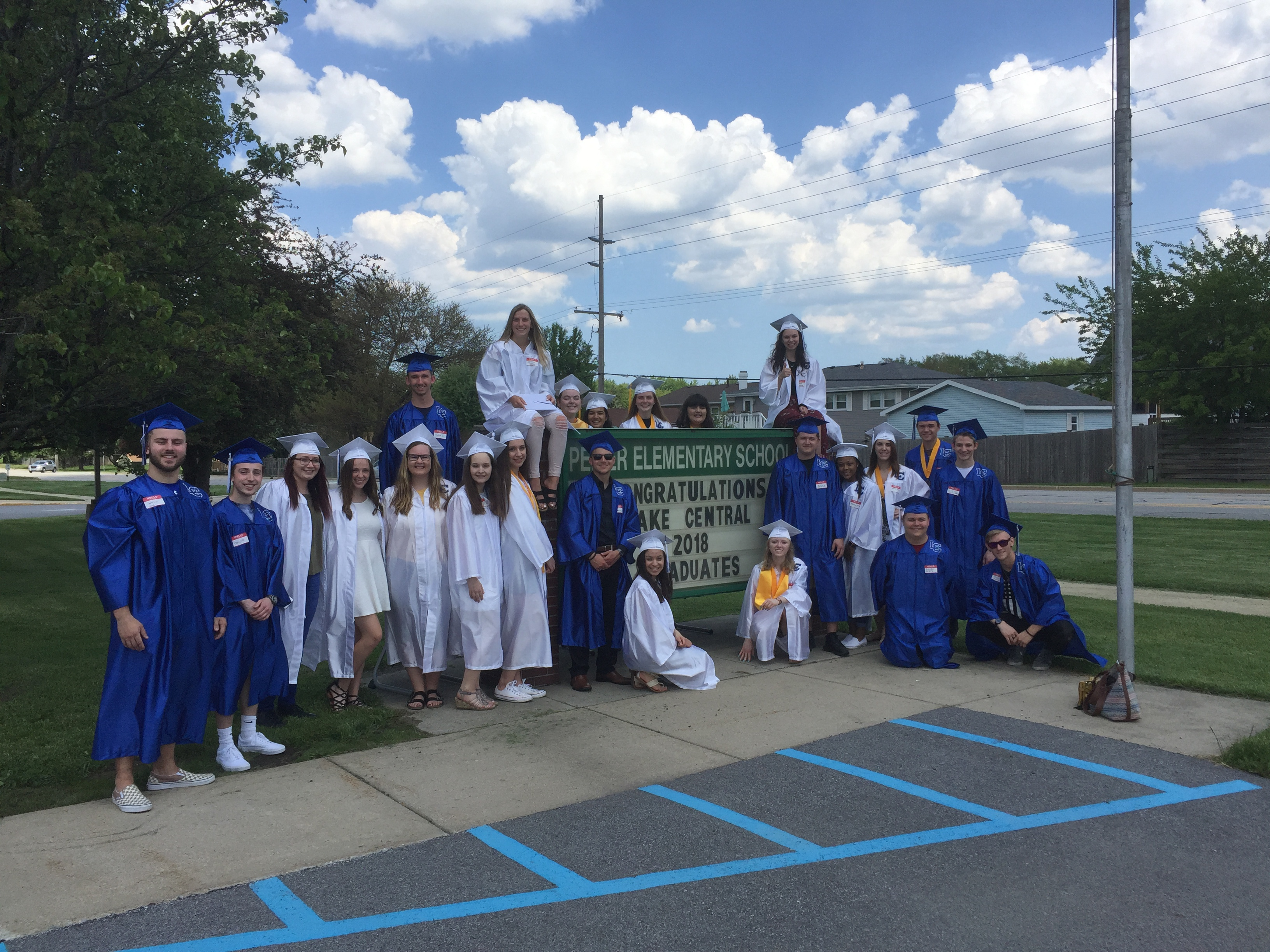 Former Peifer students had a great visit on the students' last day!