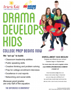 Drama Kids College Prep Flyer